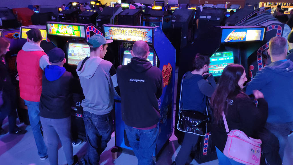 A few of the many arcade video games