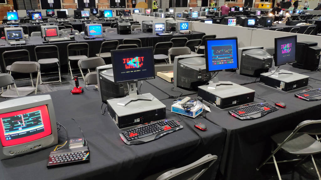 Classic 8-bit computer games running on assorted hardware platforms