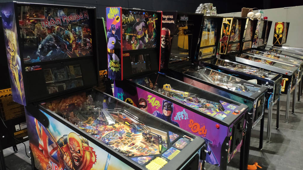 Iron Maiden, Batman 66 and JJP's Pirates of the Caribbean lead this row of machines