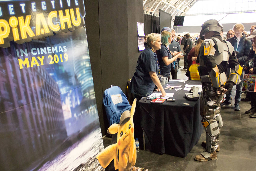 Plenty of people wanted a selfie with Detective Pikachu