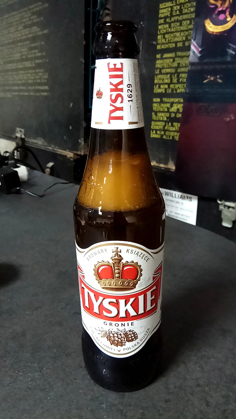 The beer of choice - Tyskie from the town of Tychy, about 30km from Bytom