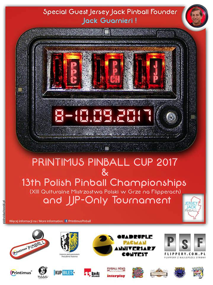The poster for the Printimus Pinball Cup 2017