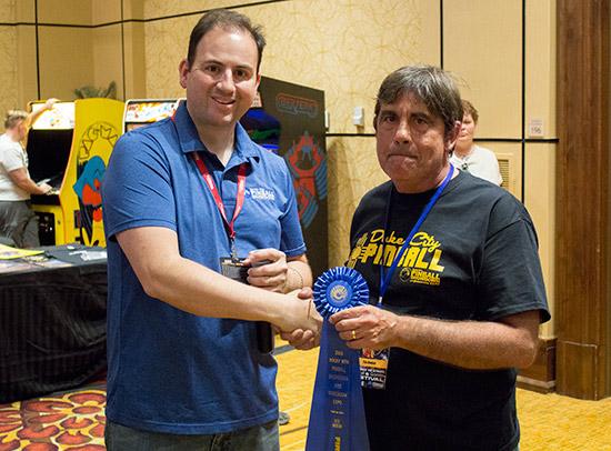 Winner of Best Modern Pinball, Tim Dunbar
