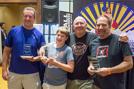 The top four in the Electromechanical Tournament (L-R):