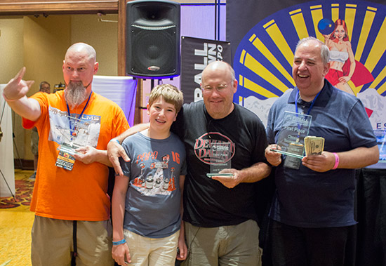 The top four in the Solid-State Tournament (L-R): Kevin Ryan (2nd), Escher Lefkoff (4th), Adam Lefkoff (3rd) & Martin Ayub (1st)