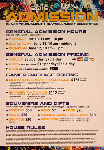 Show entry prices