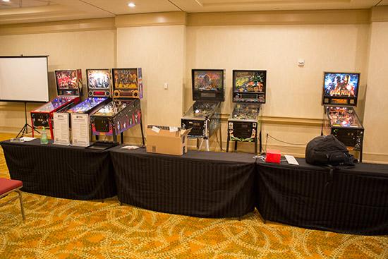 Some of the tournament pinballs
