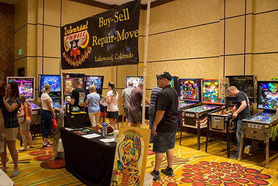 Part of the Universal Pinball stand