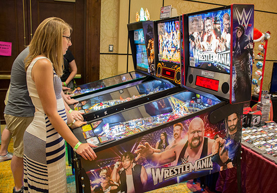 Duke City Pinball brought game along for visitors to enjoy