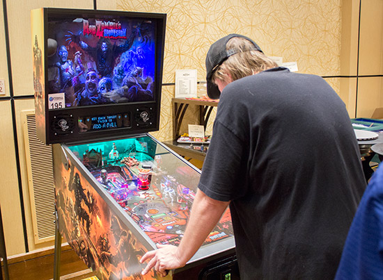 Spooky Pinball's Rob Zombie's Spookshow International was played constantly