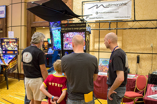 Multimorphic were showing their latest P3 pinball platform games