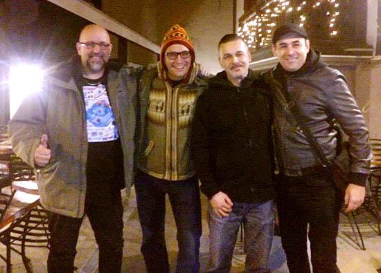 Ovi, Rich, Lukasz & Gabby - pinball friends
