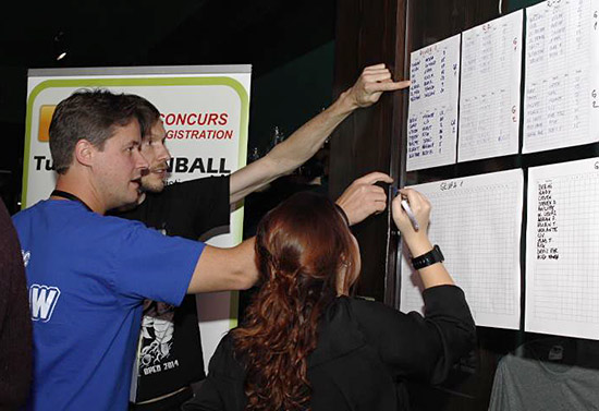 The qualifying round scoreboard