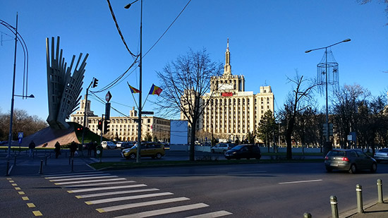 The House of Free Press building in Bucharest