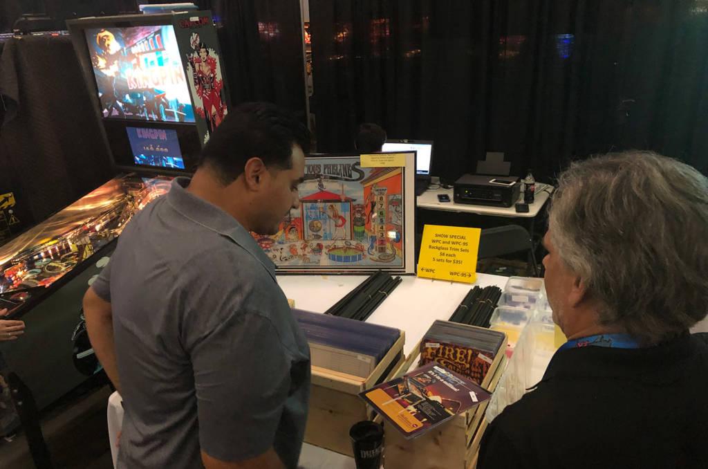 Pinball Inc had unique pinball prints, parts and their upcoming Kingpin game