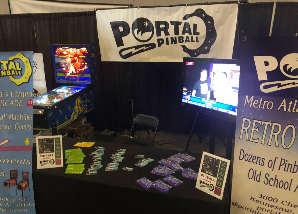 Portal Pinball Arcade brought games to help promote their location in Kennesaw, Georgia