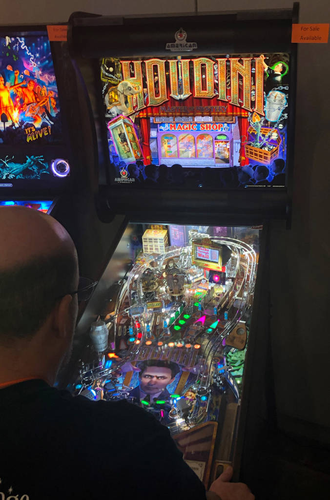 Houdini from American Pinball was at the show as was the remade Monster Bash from Chicago Gaming