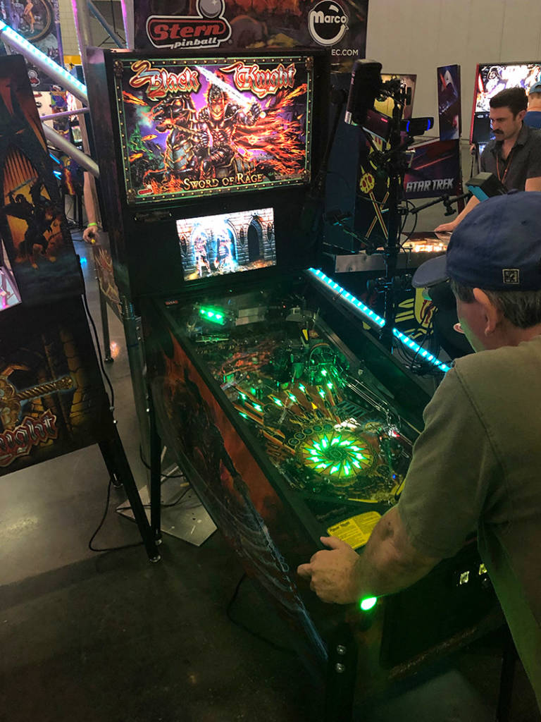 Marco had all the latest Stern Pinball titles on their stand