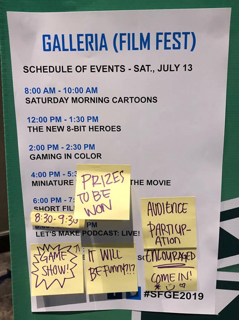 The Film Festival schedule