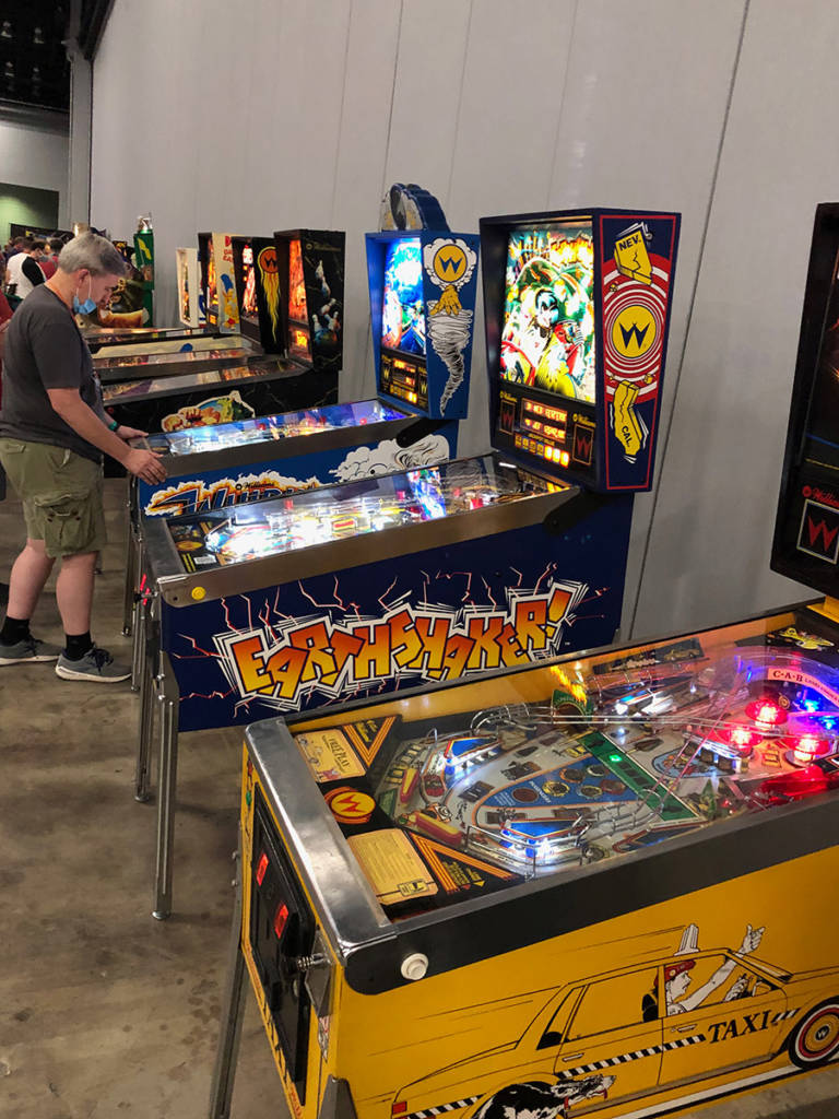 Some of the pinballs at SFGE 2021