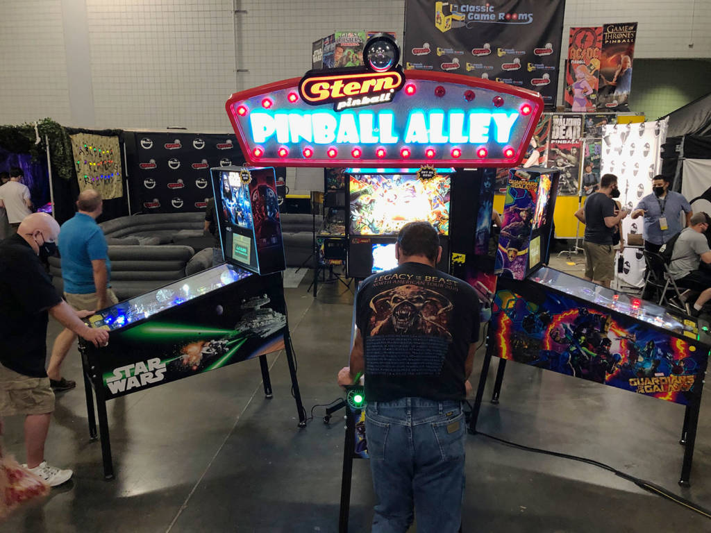 Some of the latest Stern Pinball titles