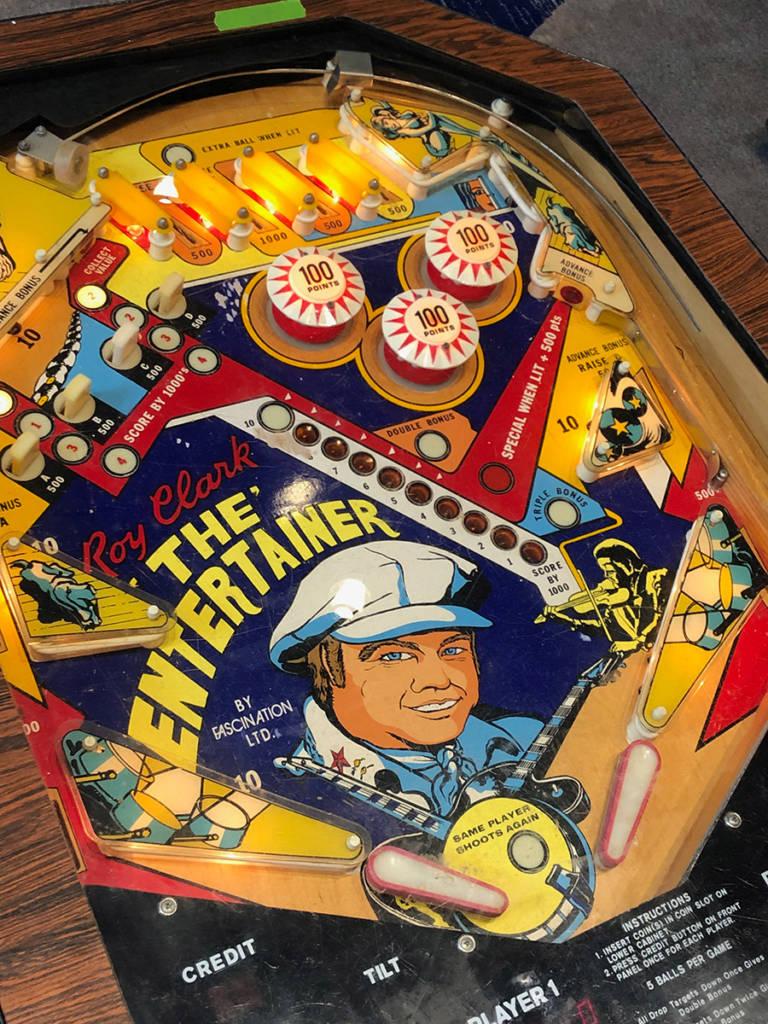 A rare Roy Clarke: The Entertainer pinball