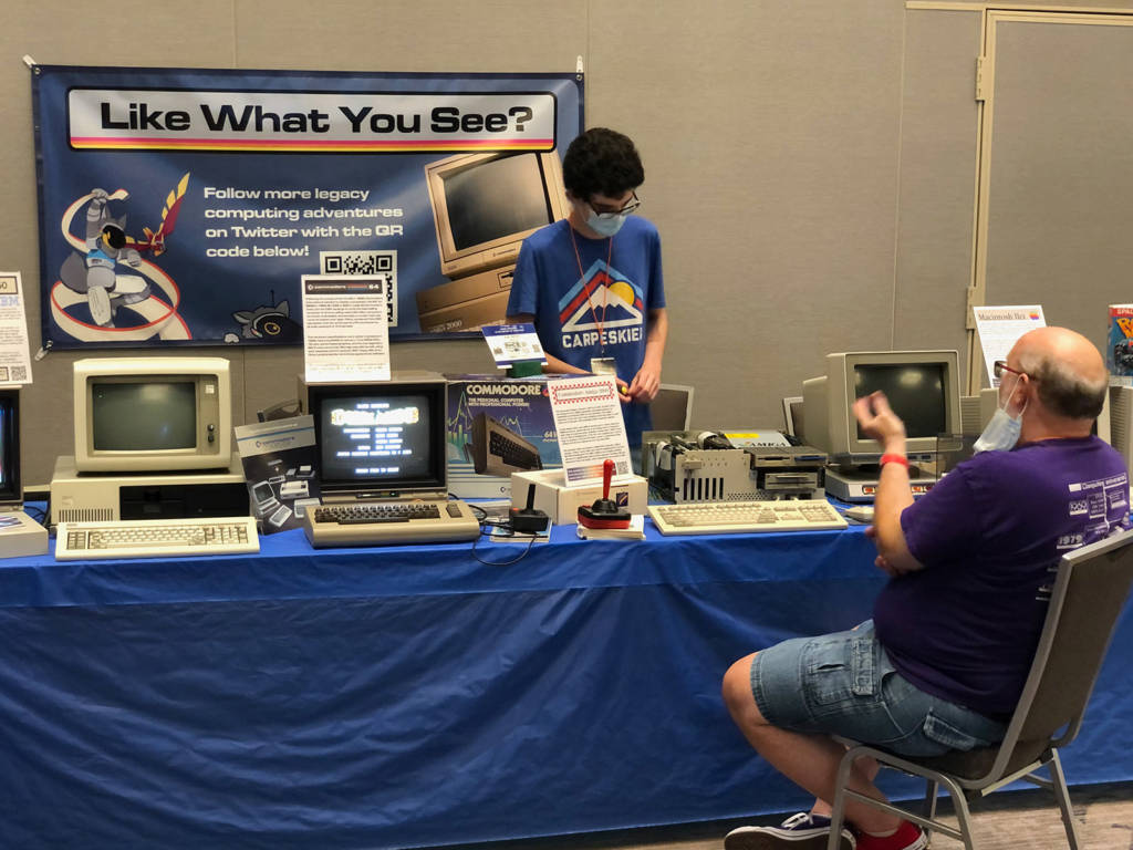 One of the vintage computing exhibits at the show