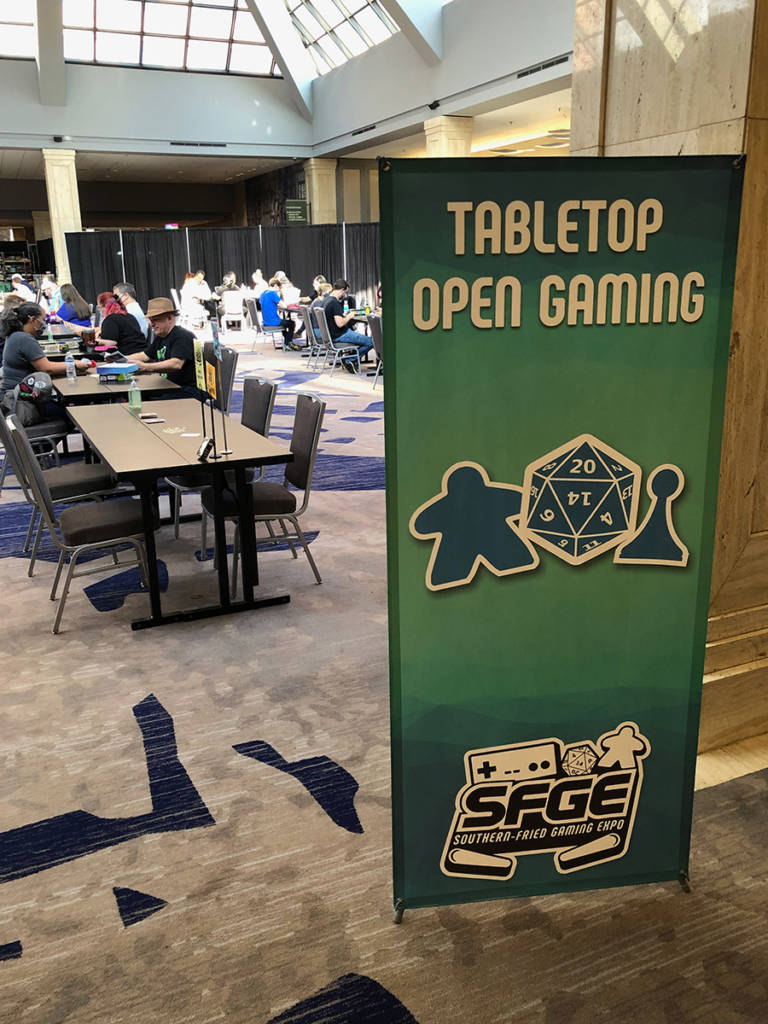 The table-top gaming area