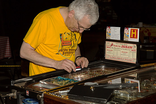 Dan Miller fine-tunes his World's Fair Jigsaw