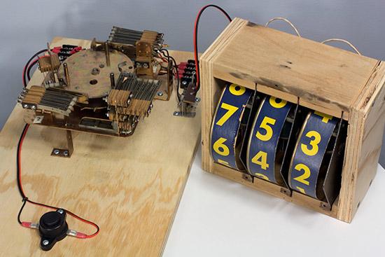 Mark Gibson's Gottlieb Score Motor demonstration board. Photo courtesy of Mark Gibson.