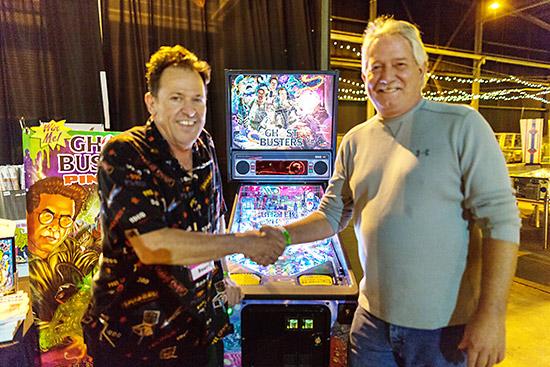 Lucky raffle winner John Mayo with PPM Founder Michael Schiess