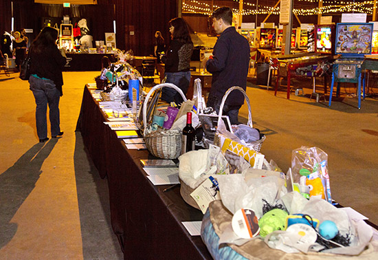 Donors and local merchants generously provided an interesting array of items for the silent auction