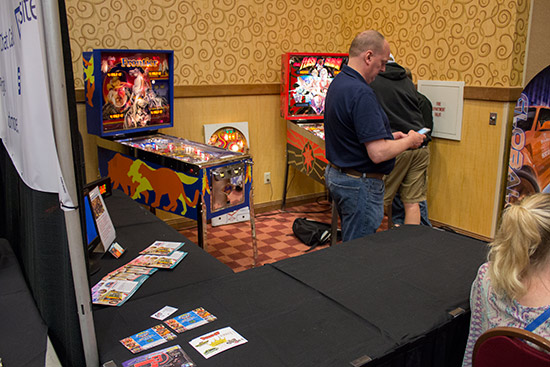 Total Pinball Restorations brought their Frontier and Flash Gordon projects