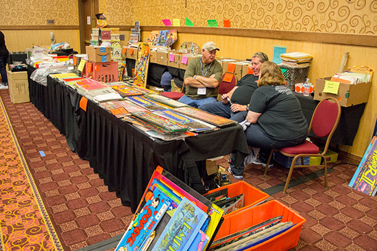 This stand at the back of the hall is a regular fixture selling assorted marquees as well as manuals, plastics and all kinds of gaming paraphernalia