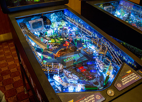 There were three Alien pinballsto play