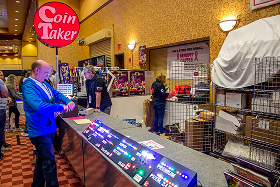 Coin Taker had their regular LEDs but also games from Heighway Pinball and Dutch Pinball