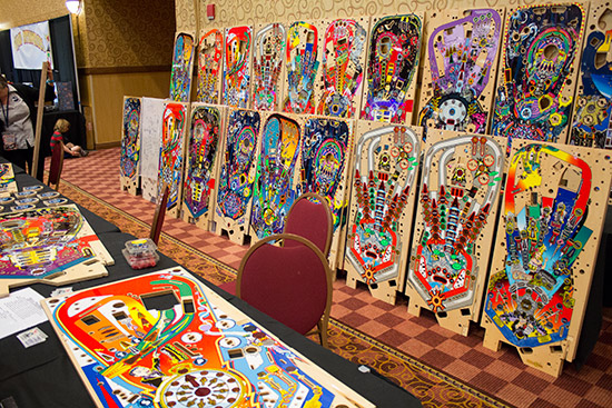 Mirco Steffen was at the TPF selling reproduction playfields