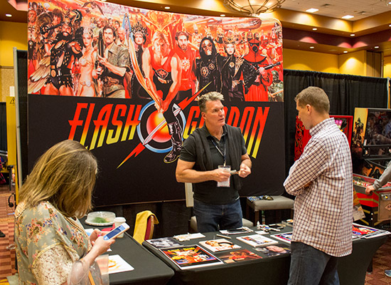 Sam J. Jones was often to be found on his stand signing autographs and talking to guests