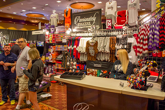 Passionately Rivalicious had a big selection of sports clothing