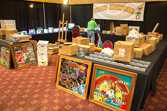Wizard Enterprises were building their display of lighted pinball items