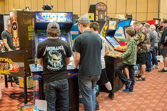 Although it was mostly about the pinball, there were plenty of video games too