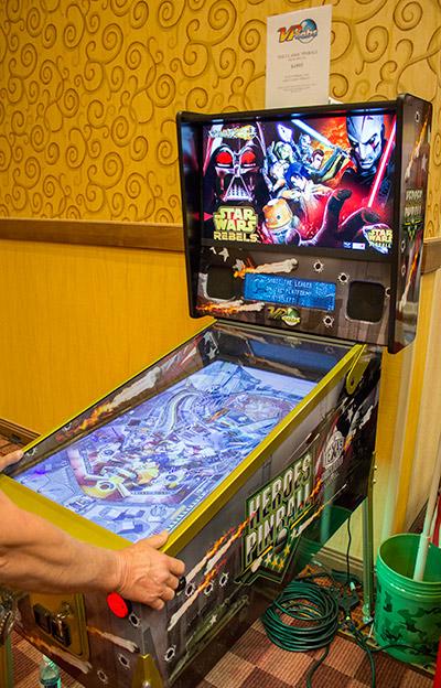 VP Cabs' virtual pinball machine