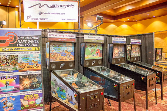 Multimorphic had a large display of eight P3 machines