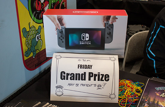 Friday's grand prize - a Nintendo Switch
