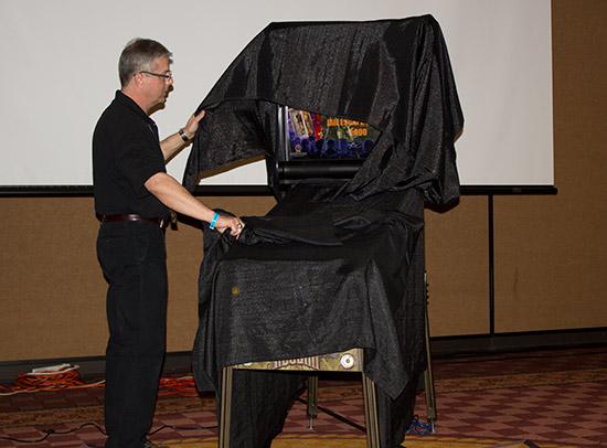 Joe Balcer unveils American Pinball's Houdini