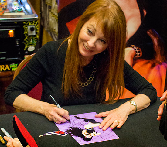 Cassandra signs Elvira-related items