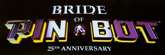 The Bride of Pinbot 25th Anniversary logo