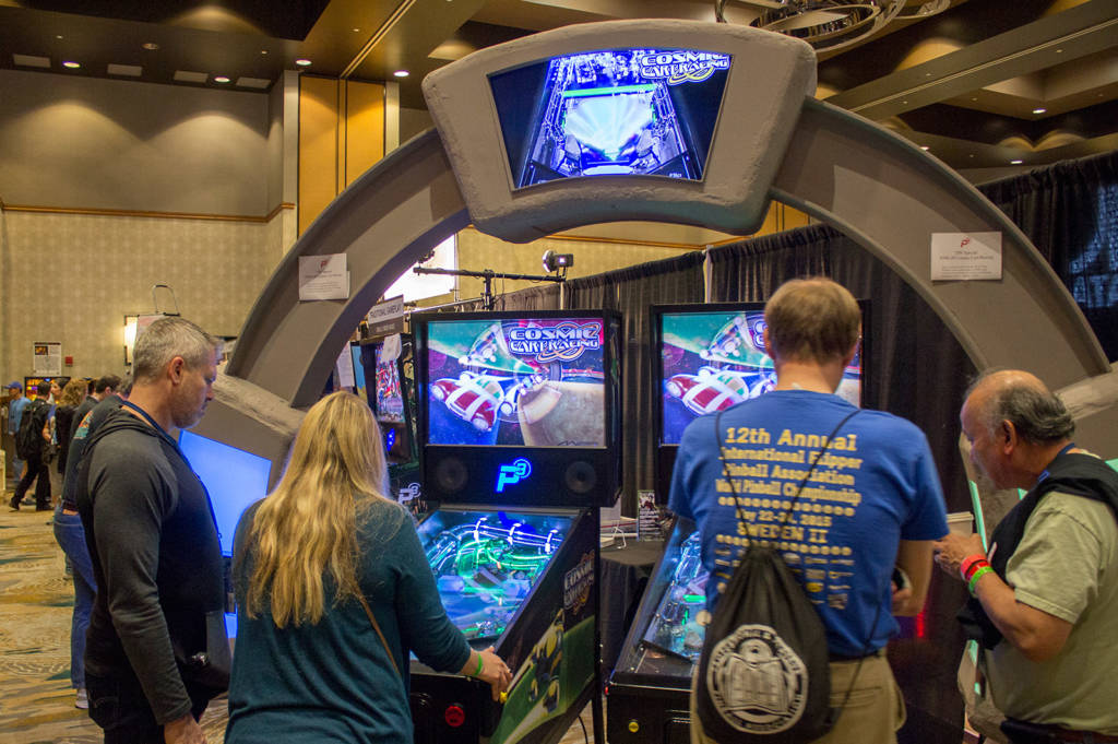 Multimorphic has a large stand promoting their new Cosmic Cart Racing title