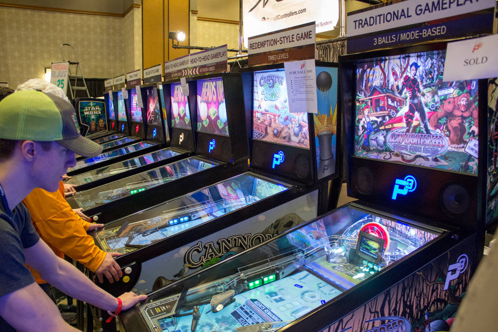 They also had eight more P3 machines showing all their different games