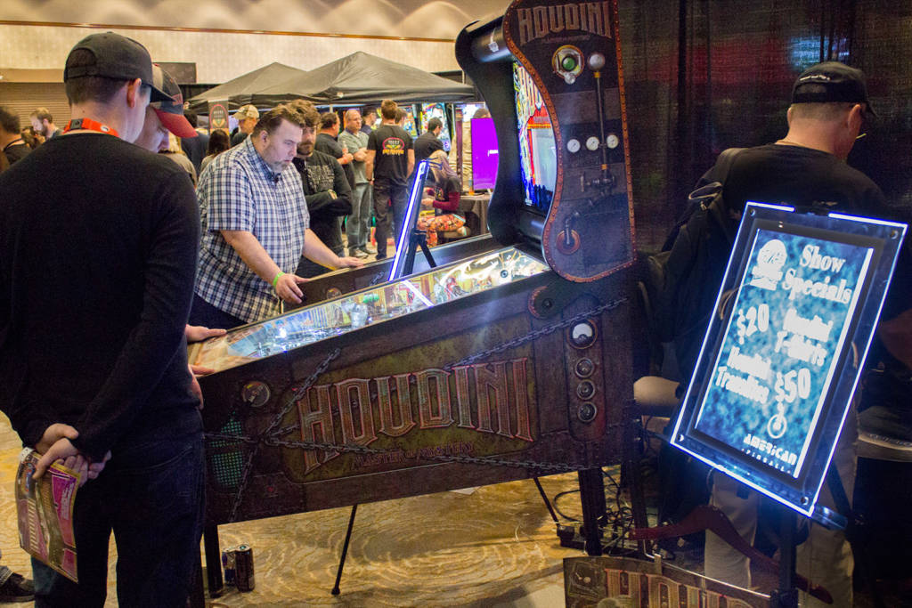 American Pinball had brought four of their new Houdini machines